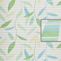 plissees g nstig ffuss wei mit bl ttern in t rkis hellgr n und dunkelgr n 537. Black Bedroom Furniture Sets. Home Design Ideas